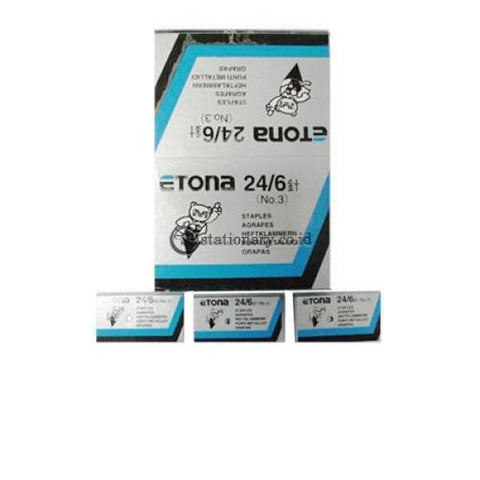 Etona Isi Staples 24/6 No 3 Office Stationery