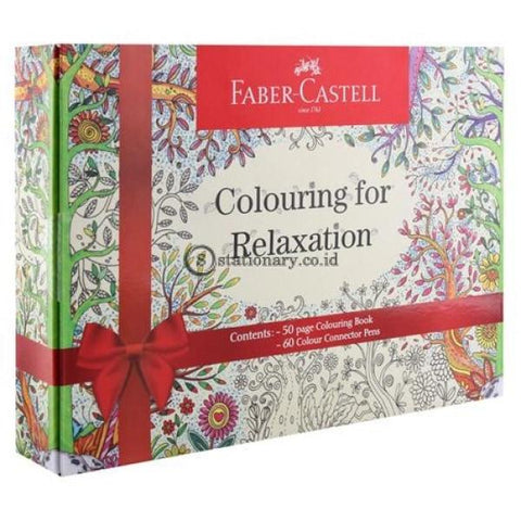 Faber Castell Colouring For Relaxation Gift Box Connector Pen 60 Office Stationery Promosi