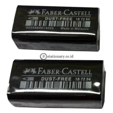 Faber Castell Penghapus Pensil Eraser Dust Free 7294 Hitam Office Stationery