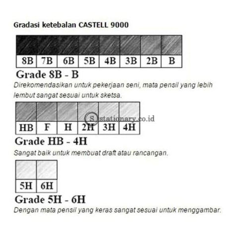 Faber Castell Pensil Kayu 9000 5H Office Stationery