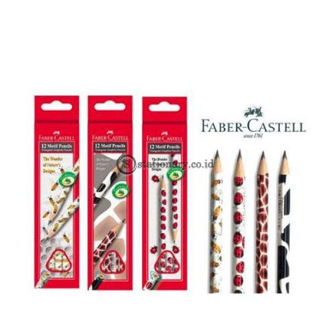 Faber Castell Pensil Kayu Triangular Motif Cow 2B #118362 Office Stationery
