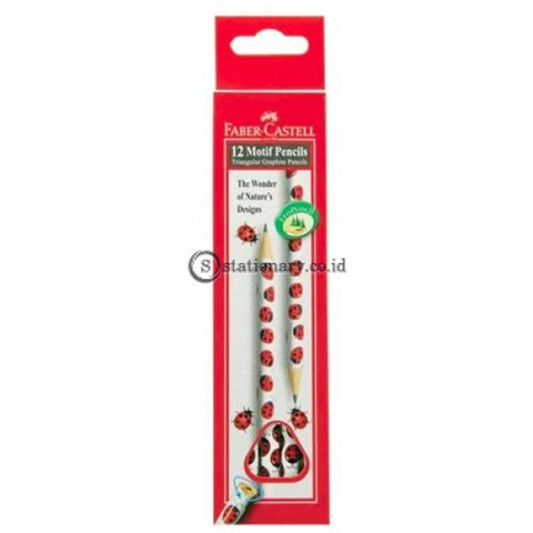 Faber Castell Pensil Kayu Triangular Motif Lady Bugs 2B #118362 Office Stationery
