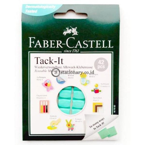 Faber Castell Tack It Reusable & Removable Adhesive Glue 30 Gr Green #187052 Office Stationery