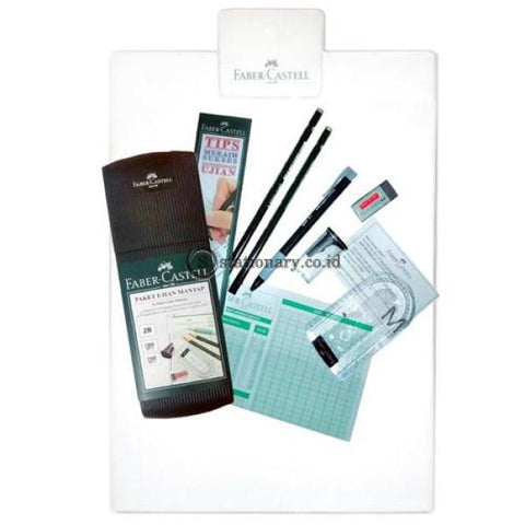 Faber Castell Tempat Pensil Exam Set Mantap Acrylic (Clipboard) Office Stationery