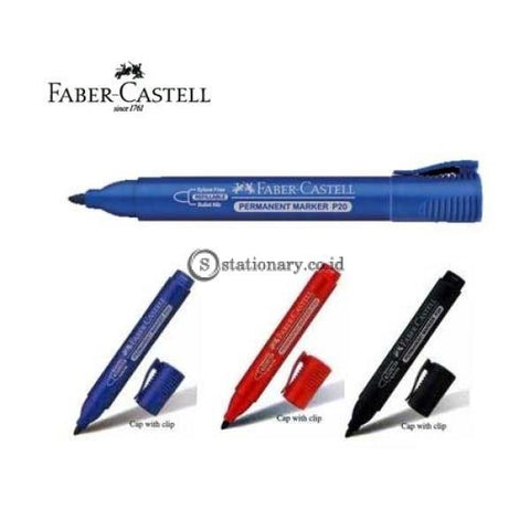 Faber Castellpermanent Marker P-20 Biru Office Stationery