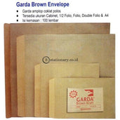 Garda Amplop Coklat Folio Office Stationery