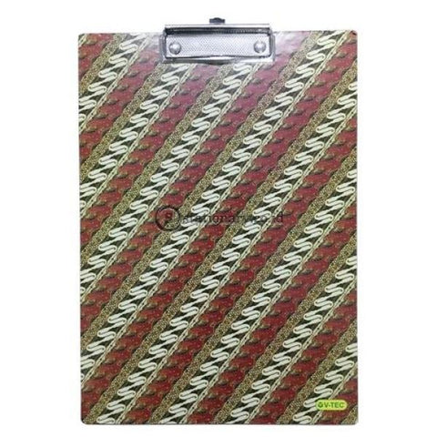 Gm Clipboard Kayu Executive Batik Folio Office Stationery