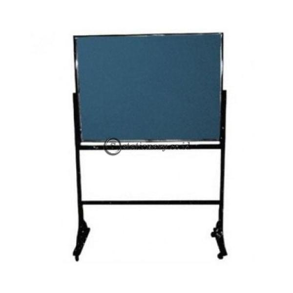 Gm Green / Black Board Magnetic Stand Kaki 120 X 240Cm Gb-1224Df Office Equipment