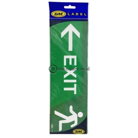 Gm Label Sign Akrilik (B) Exit Panah Kiri Warna Lb417C Office Stationery Digital & Display
