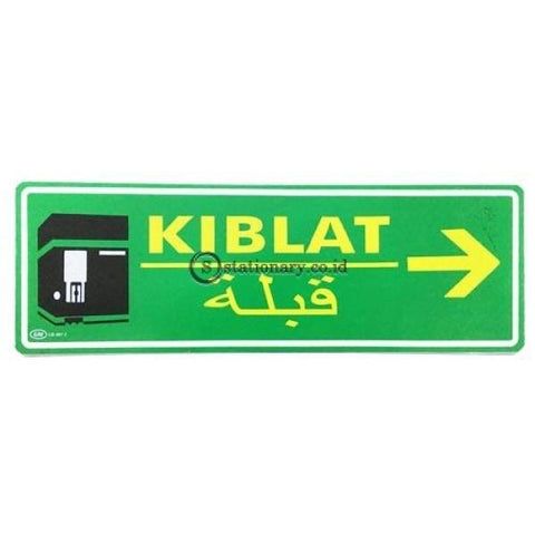 Gm Label Sign Akrilik (B) Kiblat Panah Kanan Warna Lb407C Office Stationery Digital & Display
