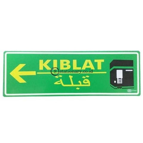 Gm Label Sign Akrilik (B) Kiblat Panah Kiri Warna Lb408C Office Stationery Digital & Display