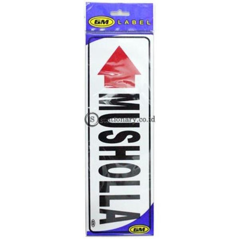 Gm Label Sign Akrilik (B) Mushola Panah Kiri Office Stationery