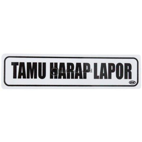 Gm Label Sign Akrilik (K) Tamu Harap Lapor Lk-33 Office Stationery