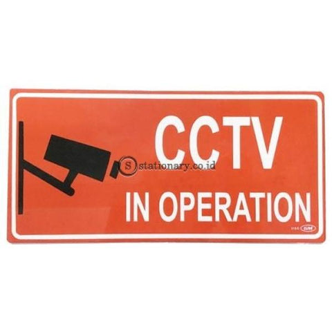 Gm Label Sign Akrilik (M) Cctv + Rantai 3D Warna Lm315C Office Stationery Digital & Display