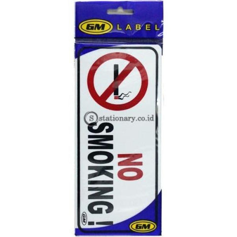 Gm Label Sign Akrilik (M) No Smoking Lm-03 Office Stationery