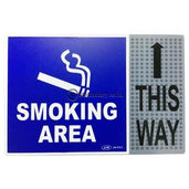 Gm Label Stiker (B) Smoking Area This Way Warna Lb419C Office Stationery Digital & Display