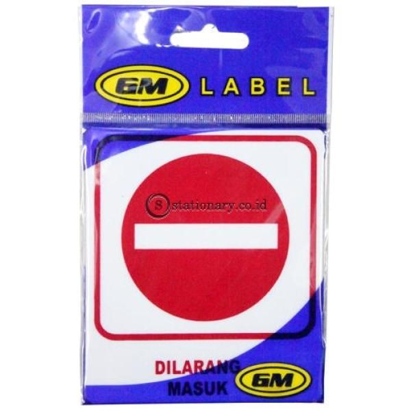 Gm Label Stiker (K) Dilarang Masuk Lk-04 Office Stationery