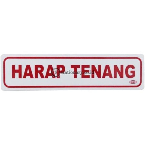 Gm Label Stiker (K) Harap Tenang Lk-08 Office Stationery
