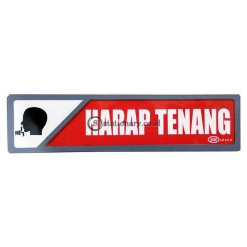 Gm Label Stiker (K) Harap Tenang Warna Lk211C Digital & Display
