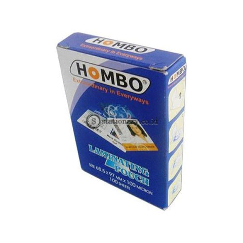 Hombo Plastik Laminating Ktp Id (68.5X97Mm) 100 Micron Office Stationery