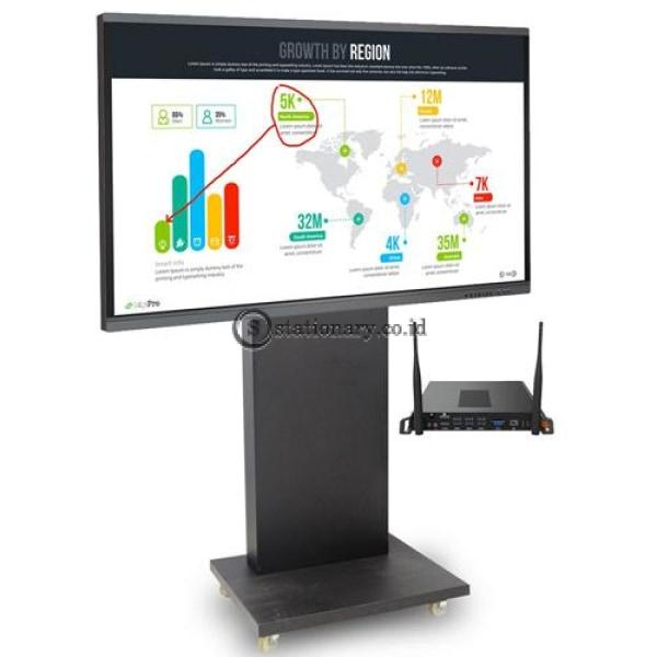 Interactive Collaborative Electronic (Ice) Board 4K Uhd 86 Inch With Ops + Stand Office Stationery