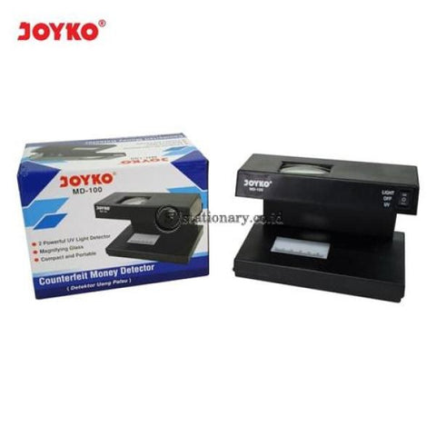 Joyko Alat Pendeteksi Uang Palsu Counterfeit Money Detector Md-100 Office Stationery