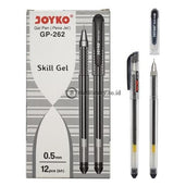 Joyko Ballpoint Gel Pen Skill 0.5Mm Gp-262 Black Office Stationery