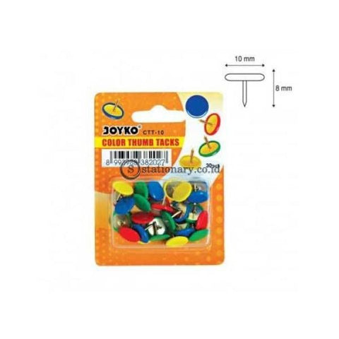Joyko Color Thumb Tacks Ctt-10 (Paku Payung) Office Stationery