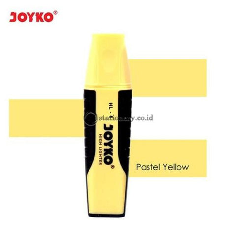 Joyko Highlighter Grip Pastel Color Yellow Hl-6 Office Stationery Lain -