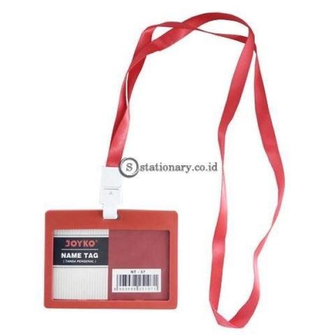 Joyko Id Card Name Tag With Landyard 54X90Mm Landscape Nt-57 Red Office Stationery