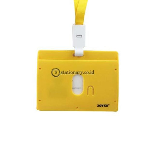 Joyko Id Card Name Tag With Landyard 54X90Mm Landscape Nt-58 Yellow Office Stationery