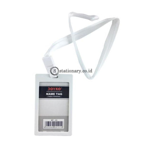 Joyko Id Card Name Tag With Landyard 54X90Mm Potrait Nt-51 White Office Stationery