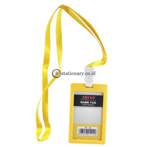 Joyko Id Card Name Tag With Landyard 54X90Mm Potrait Nt-54 Yellow Office Stationery