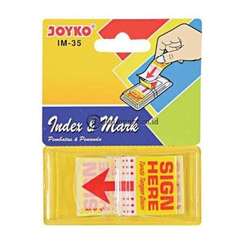 Joyko Index Mark Sign Here Plastik Im-35 Office Stationery