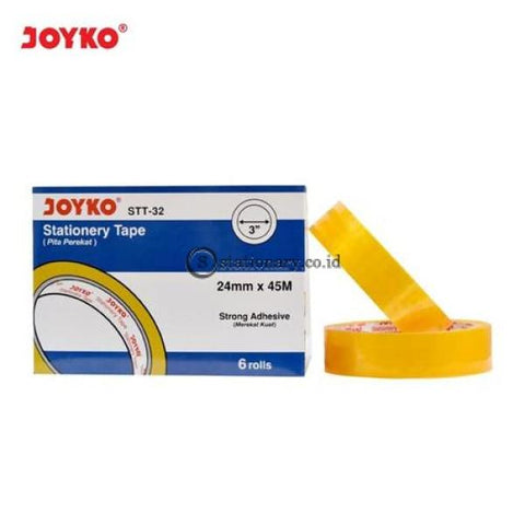 Joyko Isolasi Bening (24Mm X 45M) Stt-32 (Kemasan Box Isi 6 Roll) Office Stationery