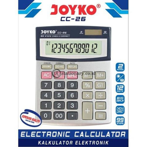 Joyko Kalkulator 12 Digit Check Correct Cc-26 Office Stationery