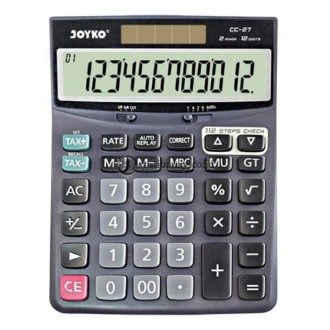 Joyko Kalkulator 12 Digit Check Correct Cc-27 Office Stationery