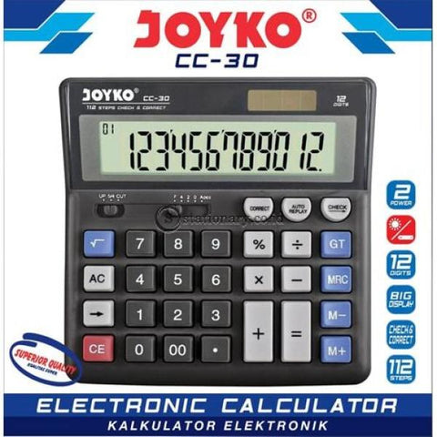 Joyko Kalkulator 12 Digit Check Correct Cc-30 Office Stationery