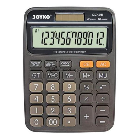 Joyko Kalkulator 12 Digit Check Correct Cc-35 Office Stationery
