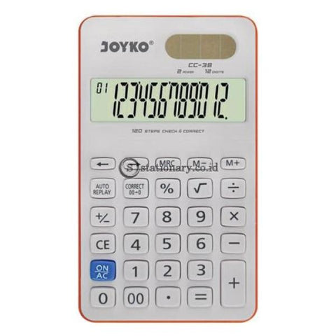 Joyko Kalkulator 12 Digit Check Correct Cc-38 Office Stationery
