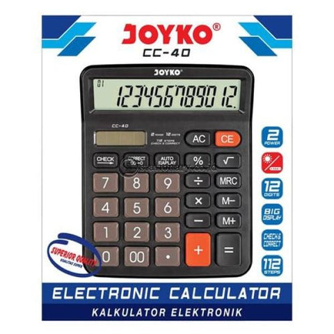 Joyko Kalkulator 12 Digit Check Correct Cc-40 Office Stationery