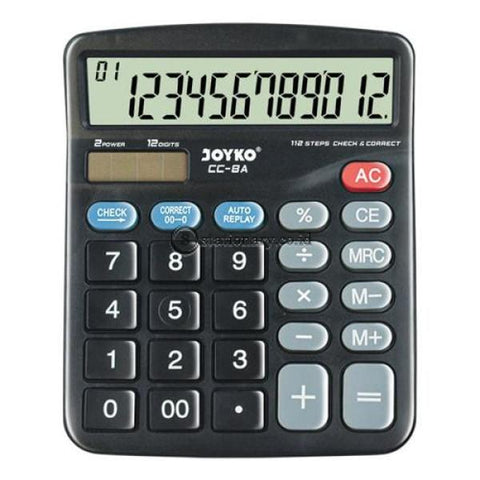 Joyko Kalkulator 12 Digit Check Correct Cc-8A Office Stationery