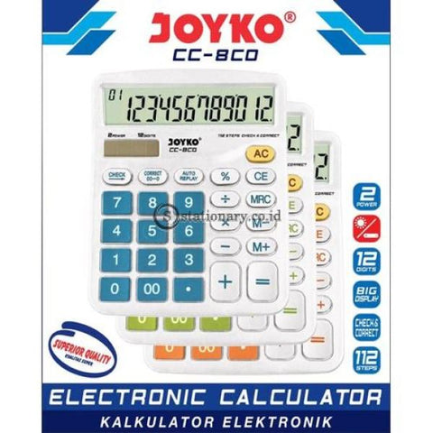 Joyko Kalkulator 12 Digit Check Correct Cc-8Co Office Stationery