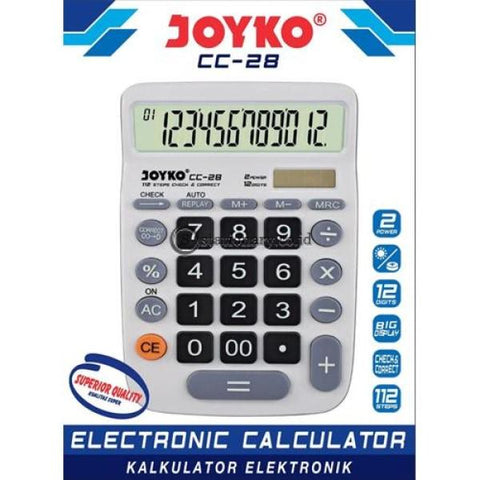 Joyko Kalkulator Check Correct 12 Digit Putih Cc-28 Office Stationery