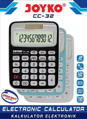 Joyko Kalkulator Check Correct 12 Digit Putih Cc-32 Office Stationery