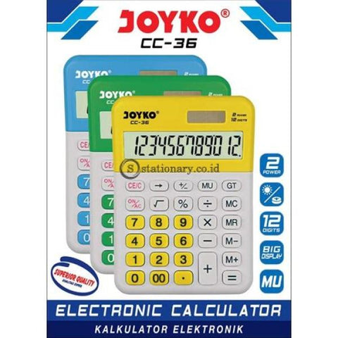 Joyko Kalkulator Check Correct 12 Digit Putih Cc-36 Office Stationery