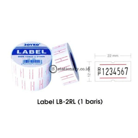 Joyko Label Harga 1 Baris Lb-2Rl (1 Baris) Office Stationery Equipment Promosi