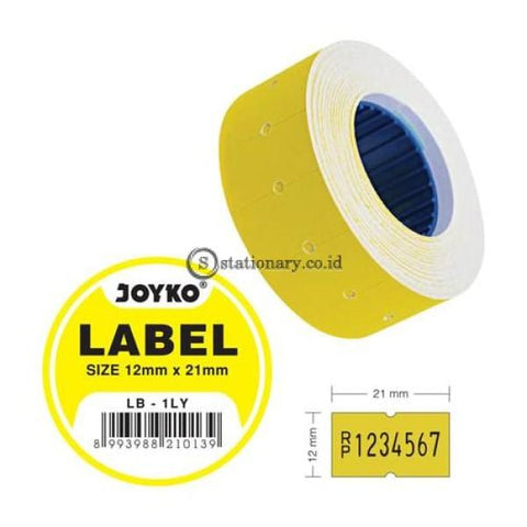 Joyko Label Harga Warna 1 Baris Lb-1Ly (1 Baris) Office Stationery