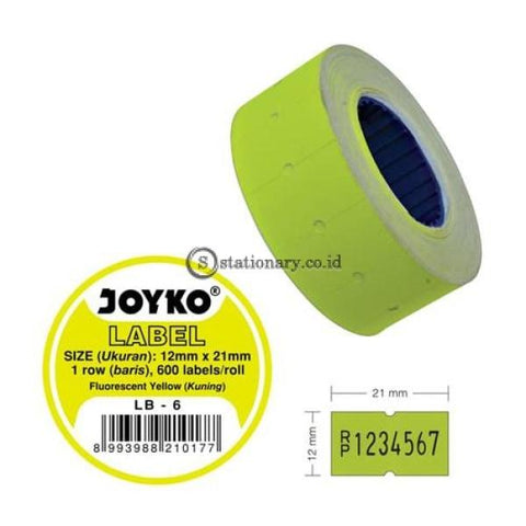 Joyko Label Harga Warna 1 Baris Lb-6 (1 Baris) Office Stationery
