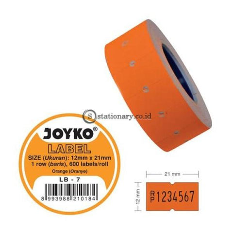 Joyko Label Harga Warna 1 Baris Lb-7 (1 Baris) Office Stationery